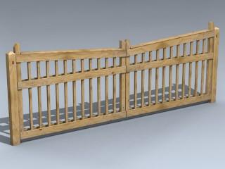 Driveway Gate (Pine Lumber)