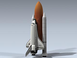 Space Shuttle With Boosters
