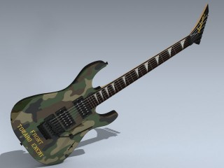 Electric Guitar (Camo Dinky Reverse)