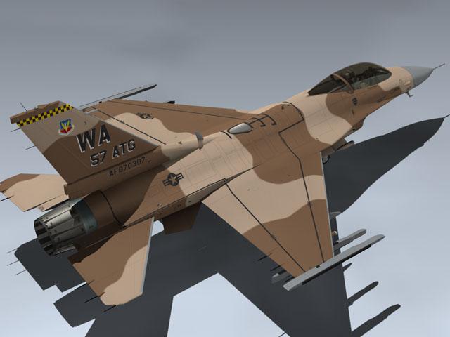 F-16C Desert Falcon (Red 07)