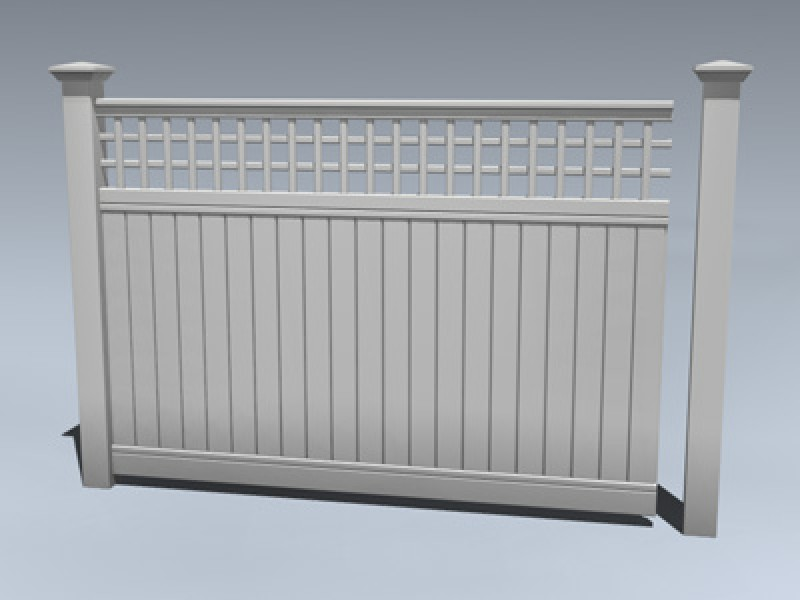 Fence Vinyl Privacy Trellis 3d Model By Mesh Factory