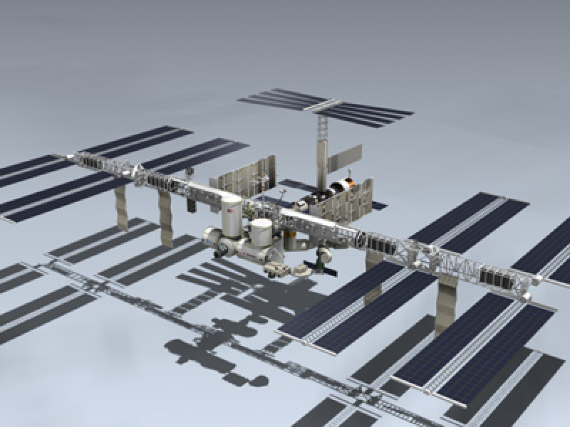 how to make international space station model