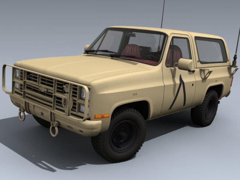 M1009 Cucv Us Desert 3d Model By Mesh Factory