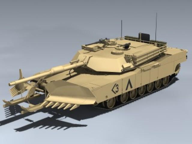 M1A1 Abrams Mine Plow