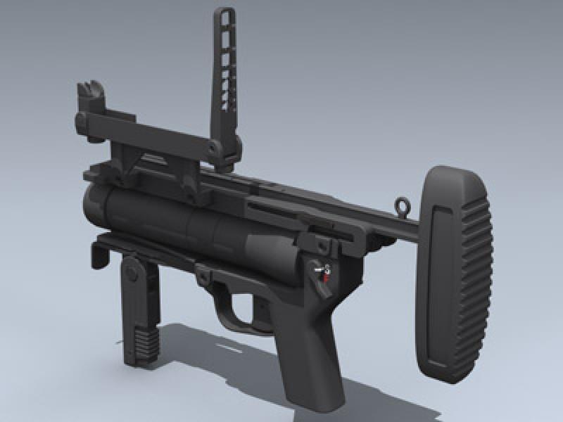 M320 Grenade Launcher 3d Model by Mesh Factory