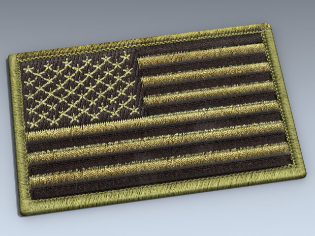 Patch (US Flag Olive Drab)
