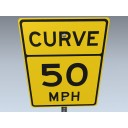 Road Sign (Curve Max Speed)
