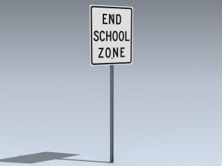 Road Sign (End School Zone)
