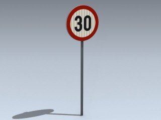 Road Sign (EU Round Speed Limit)