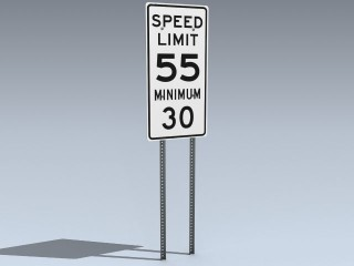 Road Sign (Min Max Highway Speed)