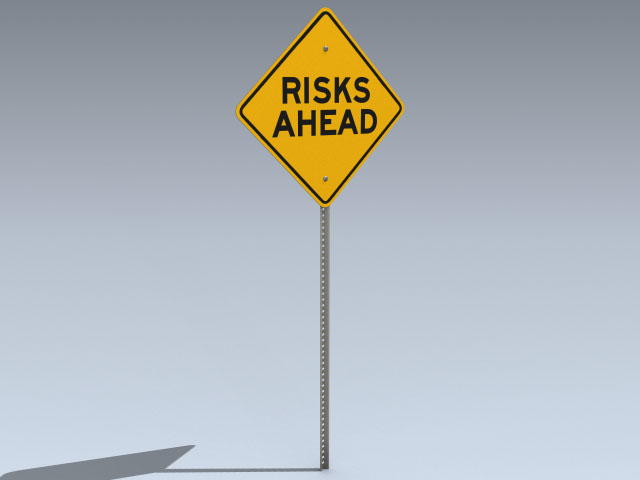 Road Sign (Risks Ahead)