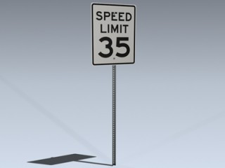 Road Sign (US Speed Limit)
