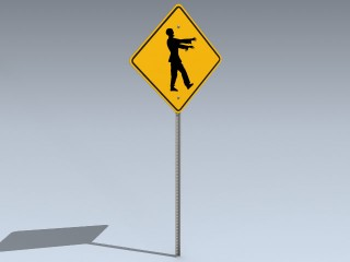 Road Sign (Zombies Ahead)