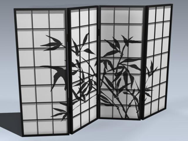 Shoji Screen (4-Panel)